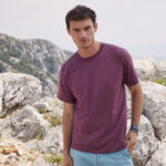 Fruit of the Loom - VALUEWEIGHT T Mens - Burgundy